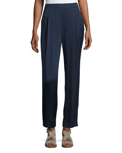 Soho Luminous Cloth Track Pants, Ink, Plus Size