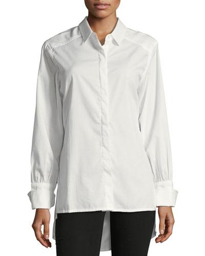 Miranda High-Low Button-Front Shirt
