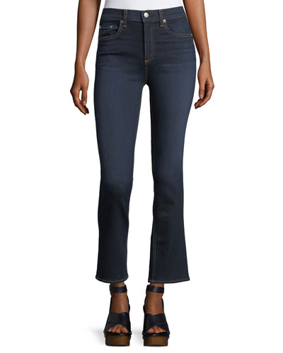 Hana High-Rise Cropped Boot-Cut Denim Jeans