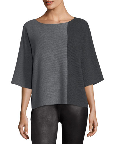 Bateau-Neck Lofty Recycled Cashmere Tunic