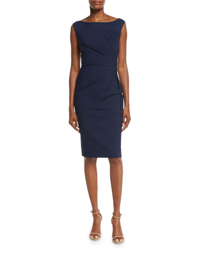 Liberia Sleeveless Bateau-Neck Cocktail Dress