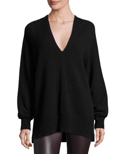 Jabbie V-Neck Tunic Sweater