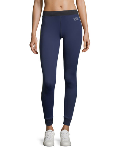 Cuffed Drawstring Full-Length Performance Athlete Leggings