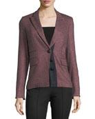 Sterling Placket Herringbone Tailored Jacket
