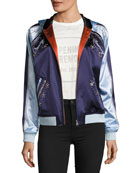 Love Stings Embellished Satin Track Jacket