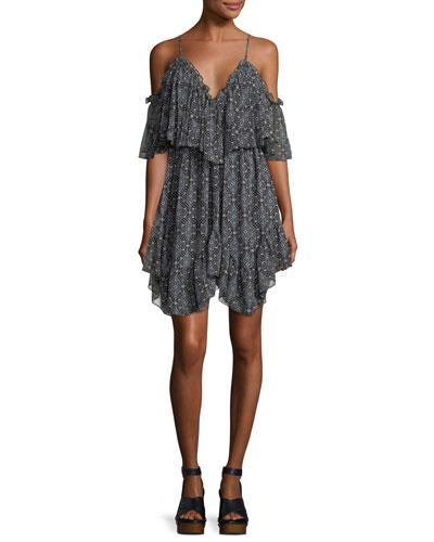 Suki Draped Sleeveless V-Neck Sleeveless Mini Dress