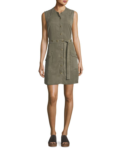Wilder Tencel® Sleeveless Button-Down Dress