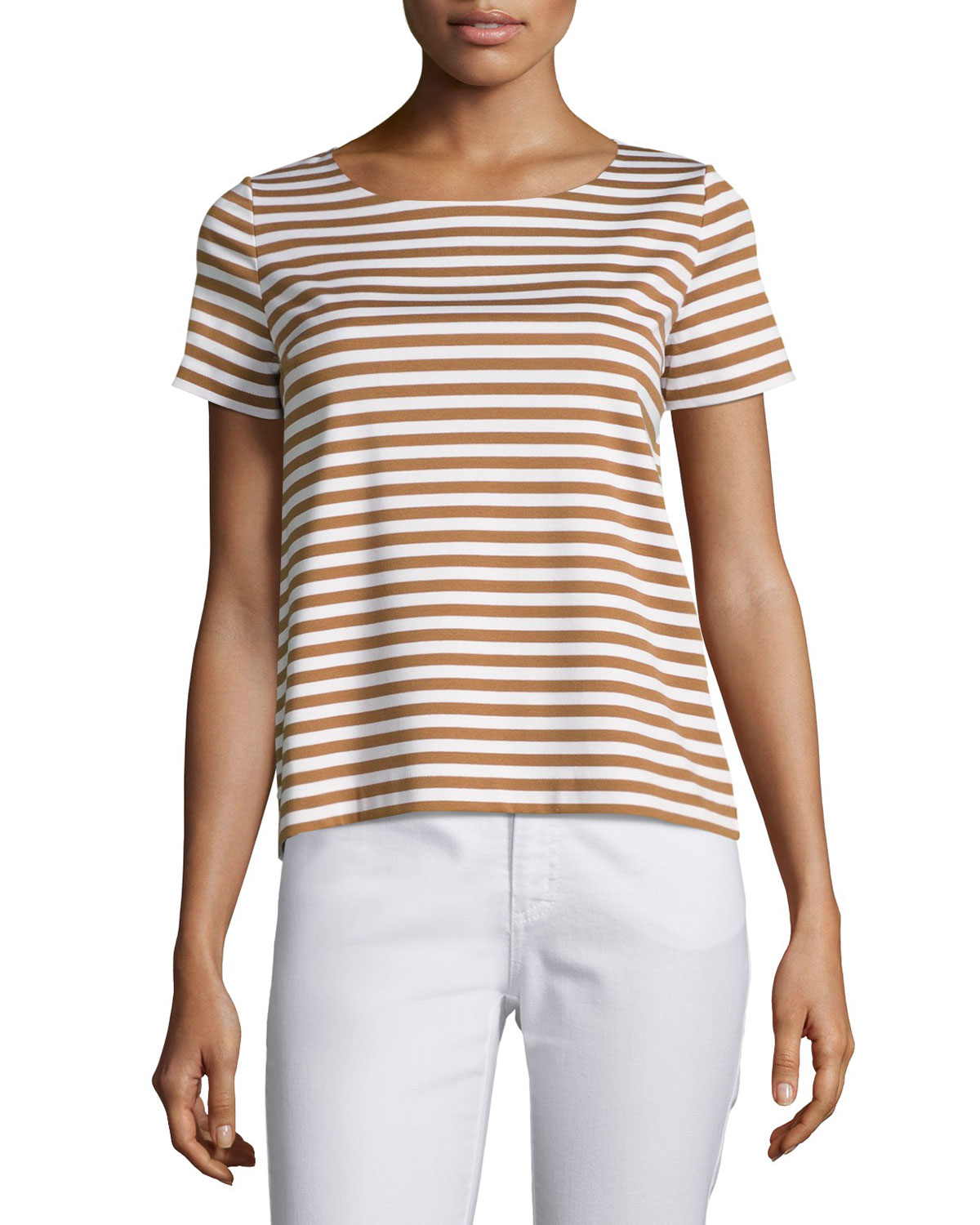 Short-Sleeve Striped Tee, Plus Size