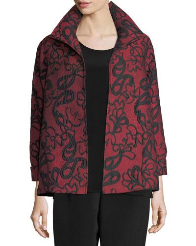 Paisley Cloque A-line Jacket