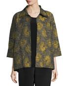 Floral Interest Jacquard Jacket