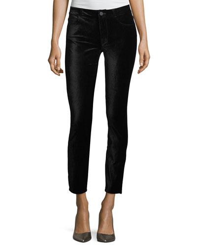 Verdugo Mid-Rise Ankle Velvet Pants