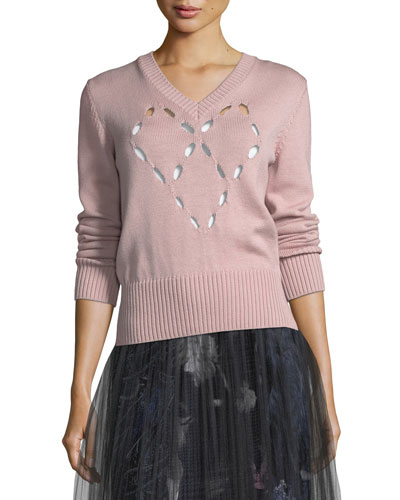 Merino Heart Cutout Sweater