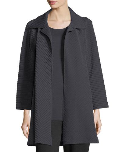 Wool-Knit Ottoman Topper Jacket