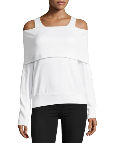 Authoritative Cold-Shoulder Top