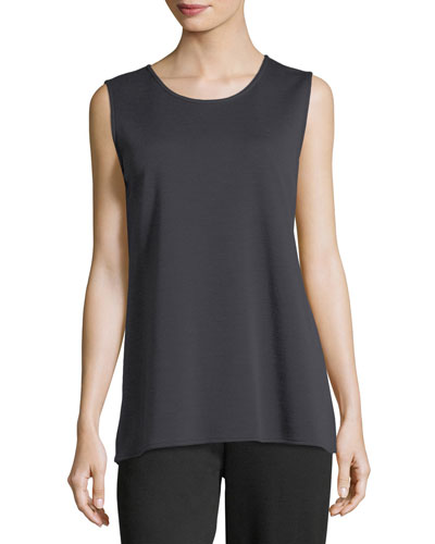 Long Knit Wool Tank