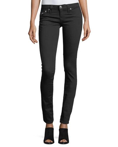 Flap-Pocket Skinny Jeans
