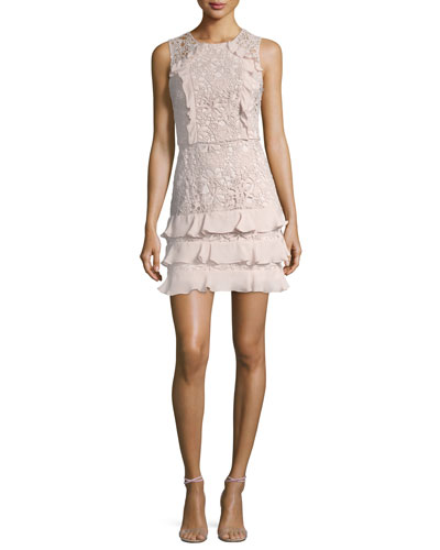 Zahara Combo Sleeveless Lace Cocktail Dress