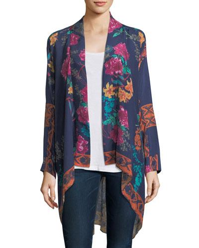 Wilimina Floral-Print Kimono