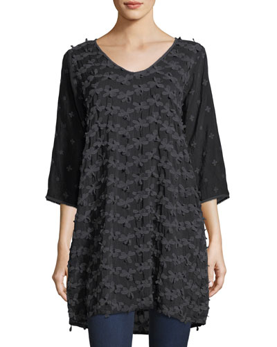 Flower Patch Georgette Tunic
