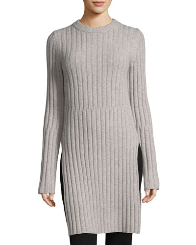 Soft Ribbed Wool Tunic