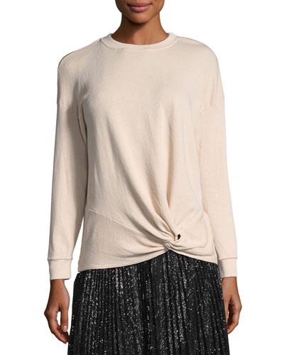 Nazani Crewneck Tie-Waist Sweatshirt
