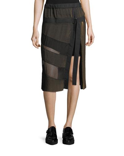 Lorna A-Line Plisse Midi Skirt
