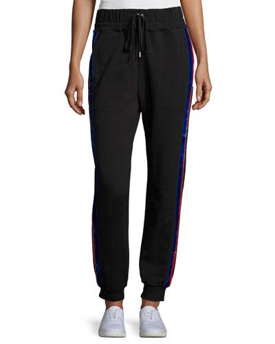 Lucia Side-Stripe Jogger Pants