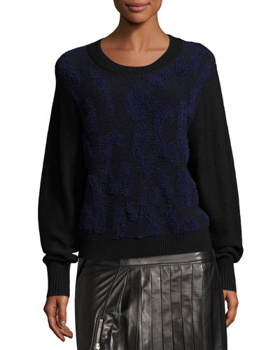 Nisa Long-Sleeve Knit Sweater