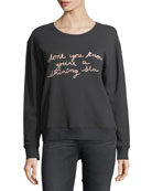 Rikke B Crewneck Cotton Pullover Sweater