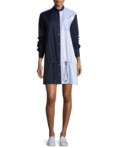 Masika Colorblocked Button-Front Shirtdress