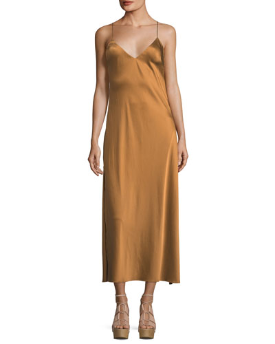 Kate V-Neck Satin Cocktail Slip Dress