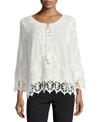 Daybreak Lace-Trim Blouse