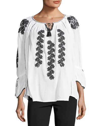 Adelina Embroidered Blouse