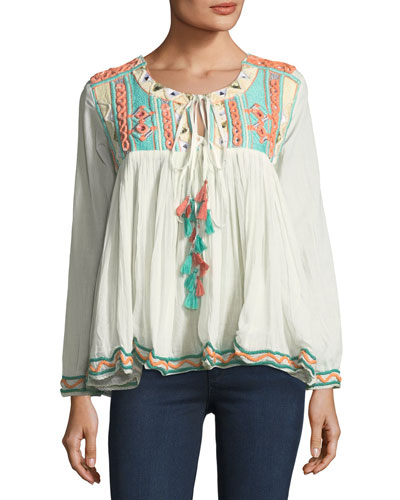 Coastland Embellished Blouse