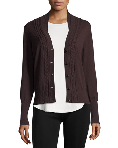 Natisone Cashmere Cable-Knit Cardigan