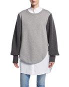 Alcobaca Sweatshirt w/ Rib-Knit Sleeves