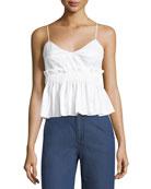 Cotton Peplum Camisole