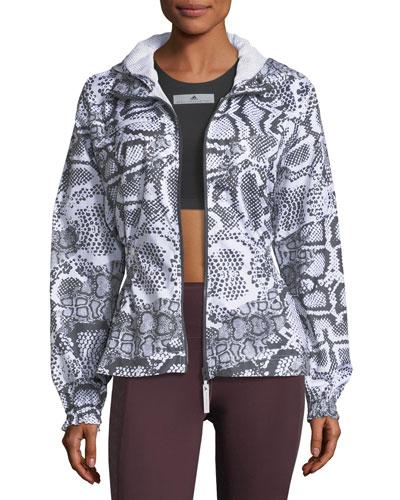 Run Zip-Front Printed Performance Jacket