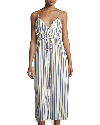 Sailor Stripe Cropped Wide-Leg Jumper