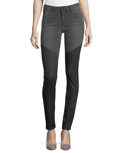 Emma Mid-Rise Wax Skinny-Leg Jeans