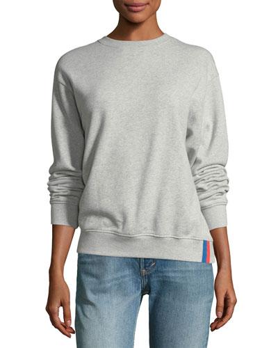 Raleigh Crewneck Long-Sleeve Cotton Sweatshirt