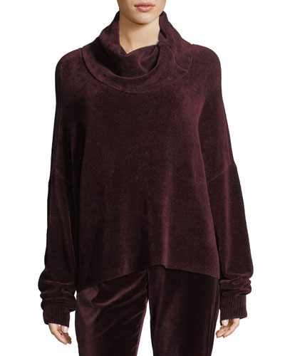 Janetta Turtleneck Long-Sleeve Pullover Sweater