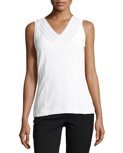 Sweet Pleat Sleeveless Top