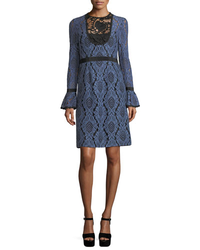 Modernist Lace A-Line Cocktail Dress