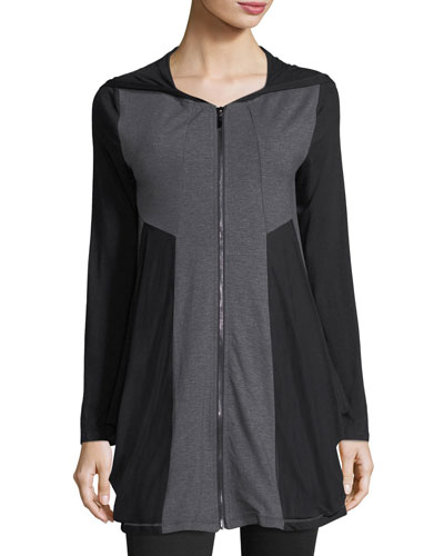Colorblock Zip-Front Tunic