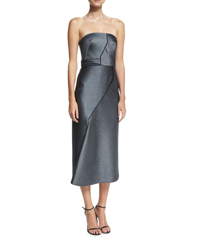 Milana Strapless Paneled Sheath Cocktail Dress