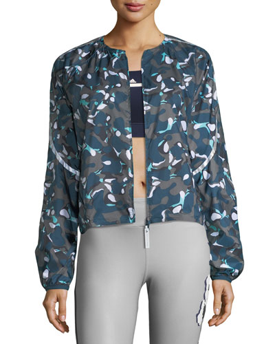 Run Adizero Zip-Front Printed Performance Jacket