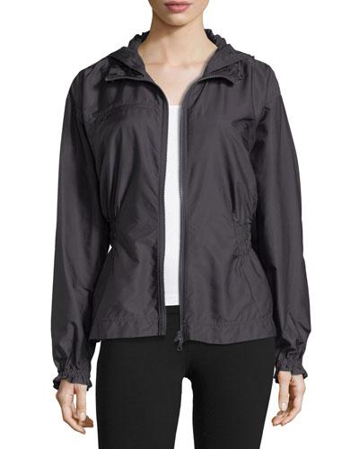 Run Zip-Front Hooded Performance Jacket