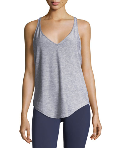 Flashy V-Neck Racerback Studio Tank Top