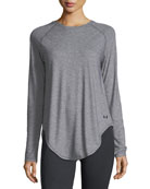 Breathe Open-Back Long-Sleeve Shirt